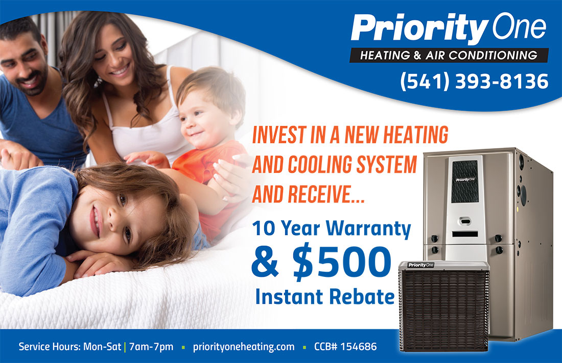 500 Dollar Rebate Eugene Heating and Cooling